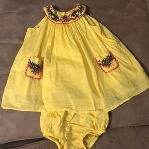 Ralph Lauren Baby Embroidered Dress & Bloomers. 3M